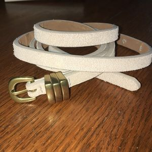 Beige graySuper skinny leather belt 36 - 42 XL NEW